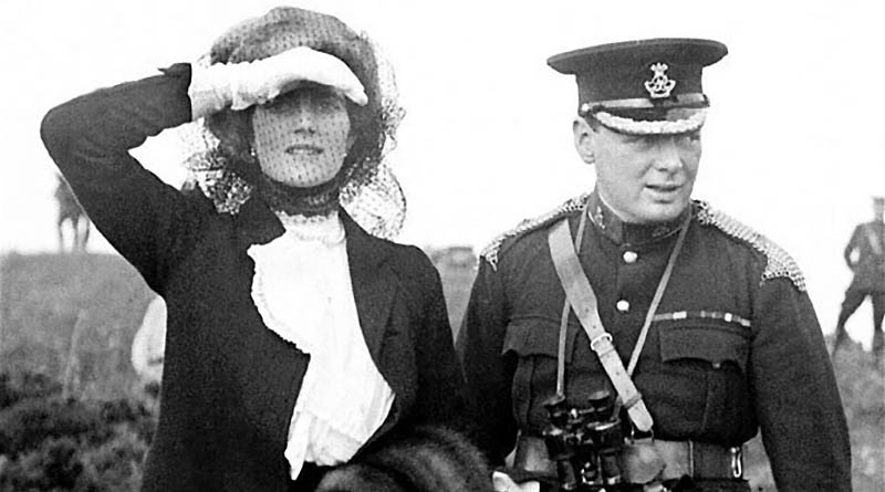 churchill and his wife 1910 farewell letter