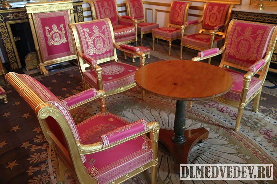 Фонтенбло, кабинет Наполеона, салон отречения, фото Дмитрия Львовича Медведева
