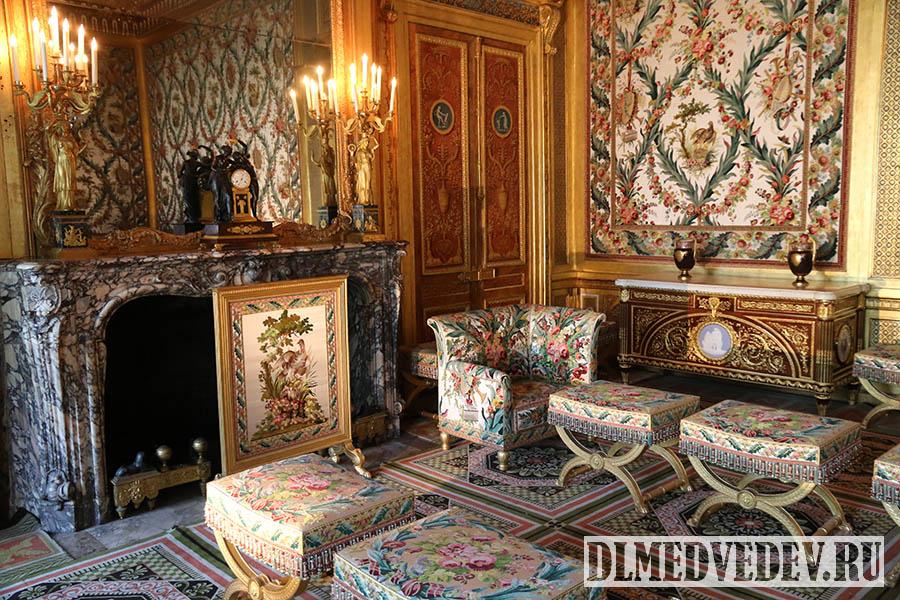 Фонтенбло, спальная императрицы, камин, фото Дмитрия Львовича Медведева
