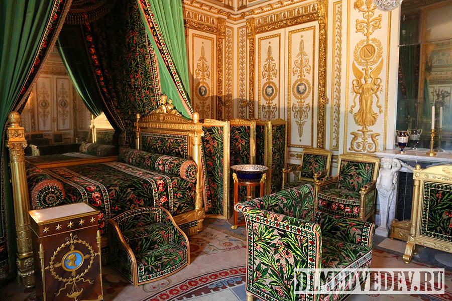 Фонтенбло, спальня Наполеона, фото Дмитрия Львовича Медведева