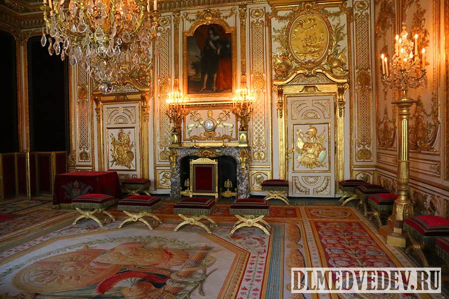 Фонтенбло, тронный зал, интерьер, фото Дмитрия Львовича Медведева