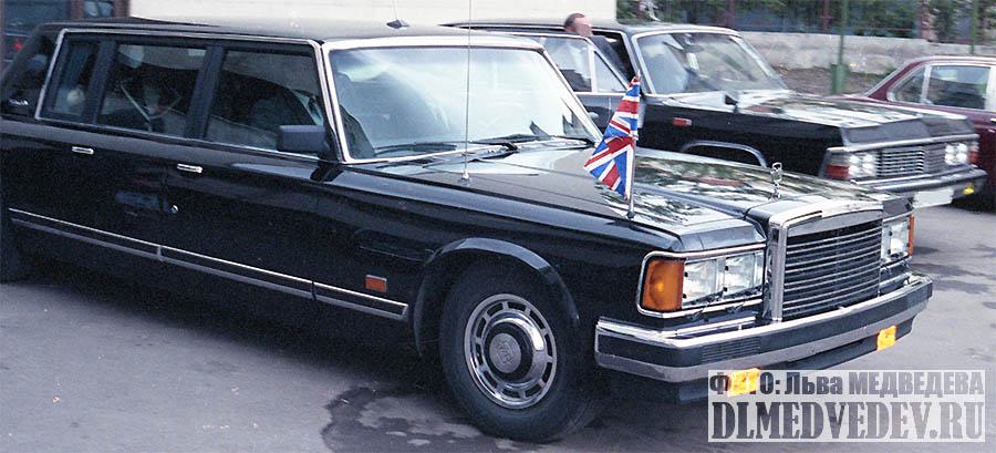 ЗИЛ-41047 с премьер-министром Великобритании Маргарет Тэтчер, фото Льва Леонидовича Медведева