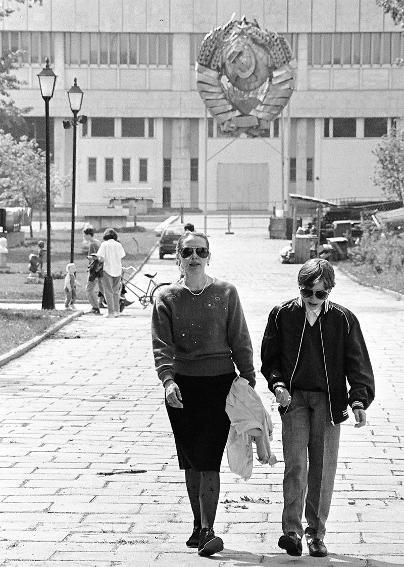 Подготовка к 50-летию Победы, Москва, парк искусств Музеон, май 1995 года, фото Льва Леонидовича Медведева