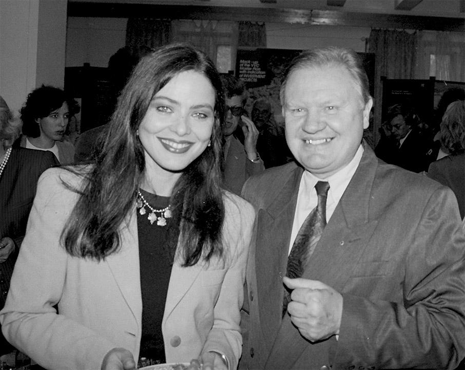 Ornella Muti and Lev Medvedev