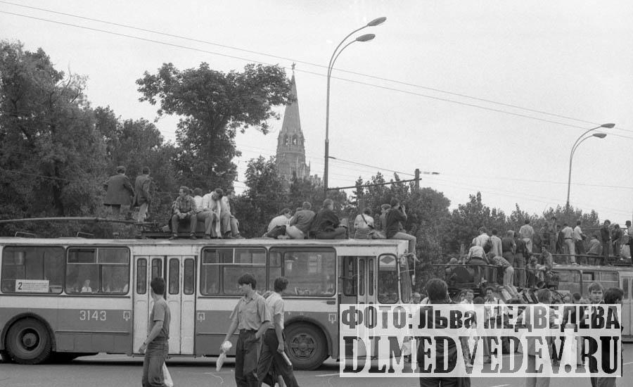 Путч, ГКЧП, 19 августа 1991 года, фото Льва Леонидовича Медведева
